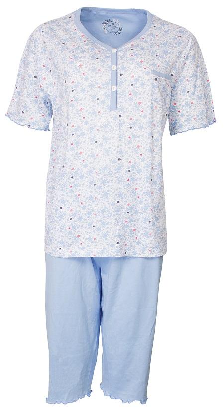 Dames Shortamas Medaillon Dames Pyjama Kniebroek Flower