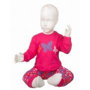 Fun2wear meisjes pyjama 'Butterfly' fuchsia