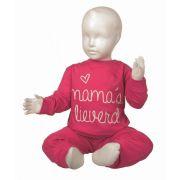 Fun2wear meisjes pyjama 'Mama's lieverd' fuchsia