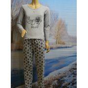 Funderwear meisjes pyjama 'roos' grijs