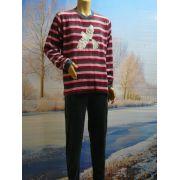 Lunatex meisjes pyjama velours 'Nachtegaal' antraciet