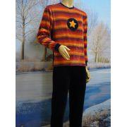 Lunatex jongens pyjama velours 'ster/streep' marine
