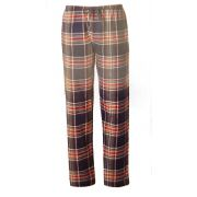 Pastunette heren pyjamabroek flanel 'Ruit marine/rood'