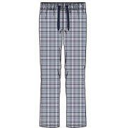 Pastunette heren pyjamabroek poplin 'Ruit marine/jeans'