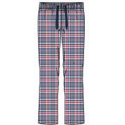 Pastunette heren pyjamabroek poplin 'Ruit rood/blauw'