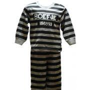 Fun2wear jongens pyjama 'Boefje' zwart/grijs