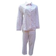 Cocodream dames pyjama flanel 'Fijn hartje' roze