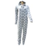 Cocodream meisjes onesie fleece 'Hart' grijs