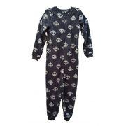 Outfitter jongen onesie 'Alien' zwart