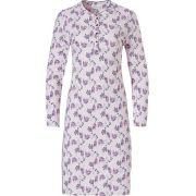 Pastunette dames nachthemd lange mouw 'Leaves flower' roze