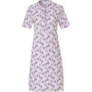 Pastunette dames nachthemd korte mouw 'Leaves flower' roze