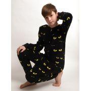 Outfitter jongens onesie 'Eyes' zwart