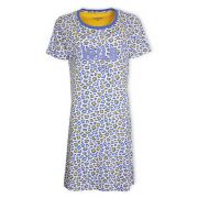 Irresistible dames nachthemd korte mouw 'Wild thing' blauw