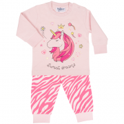 Fun2wear meisjes pyjama 'Sweet dreams unicorn' rose shadow