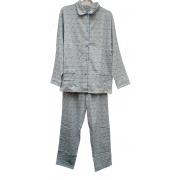 Cocodream dames pyjama flanel 'Druppel' blauw