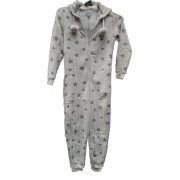 Cocodream meisjes onesie fleece 'Shadow star' grijs
