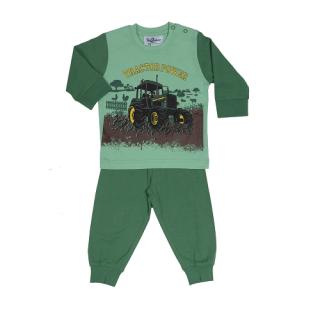 Fun2wear jongens pyjama 'Tractor power' groen