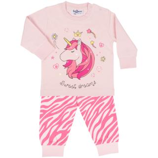 Fun2wear meisjes pyjama 'Sweet dreams unicorn' rose shadow