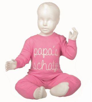 Fun2wear meisjes pyjama 'Papa's schatje' roze