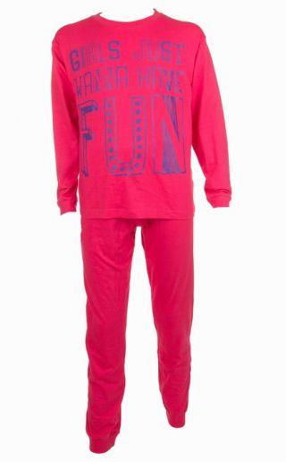 Fun2wear meisjes pyjama 'Girls' fuchsia
