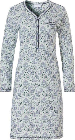 Pastunette dames nachthemd lange mouw 'Paisley' mint