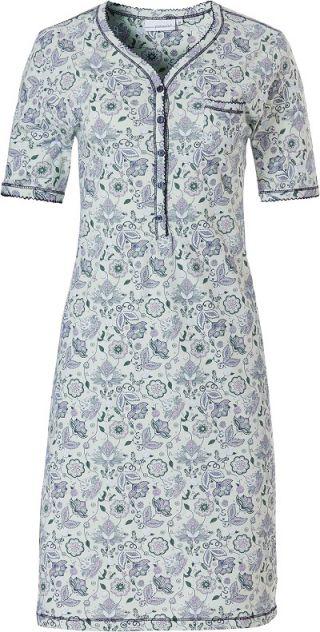 Pastunette dames nachthemd korte mouw 'Paisley' mint